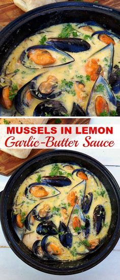in Buttery Lemon Garlic Sauce Creamy, garlic-butter Lemon Mussels ~ One of the most delicious appetizers ever !Creamy, garlic-butter Lemon Mussels ~ One of the most delicious appetizers ever ! Seafood Appetizers, Seafood Dinner, Yummy Appetizers, Appetizer Recipes, Dinner Recipes, Seafood Platter, Popular Appetizers, Appetizer Dinner, Bon Appetit