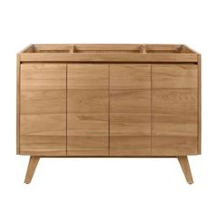Shop Avanity Coventry 60 in. Vanity Only in Natural or Gray Teak - Overstock - 21833179 - Natural Teak