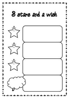 3 stars and a wish- get to know you activity