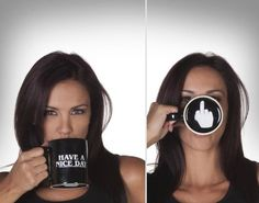 """""""HAVE A NICE DAY"""" Funny Coffee Mug"""