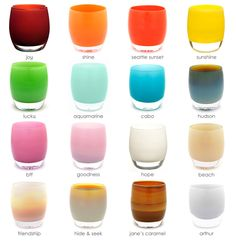 the full spectrum | glassybaby -  Kalla - I came across this store in SF and they rent. could be nice for votives.