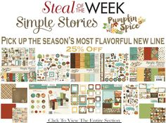 3 Brand New Simple Stories Lines Steal of the Week Just For You!Check out all the newest lines! In stock and shipping now at allscrapbooksteals.com
