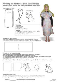 Biblisches Basteln  Schnellkleid Kindergarten, Image, Headboard Cover, Trim Board, Dressing Up, Tutorials, Creative, Craft, Curve Dresses