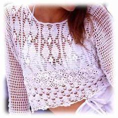 Crinochet: Pretty White Pullover