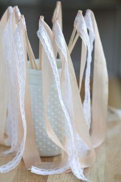 DIY Ribbon Wedding Wands                                                       …