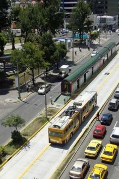 Fighting off the car in Latin America; focus on modernizing the public transportation system with BRT, buses, better bicycle infrastructure, bike share systems and aerial cable cars to support the poorer areas on the slopes, as well as better pedestrian environments. Quito, Ecuador and Cali, Colombia