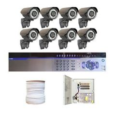 "Complete Professional 8 Channel Full D1 CCTV DVR (2T HD) Surveillance Video System Package with (8) x 700TVL 1/3"" Exview HAD CCD II with Effio-e DSP Devices 2.8~10mm Varifocal Lens, 42pcs IR LED, 131 ft IR Distance Outdoor Security Camera by Gw. $1550.00. Package Includes: GW3008 DVR with 2T HDD; Remote Control and mouse; 8 x GW706WD - 1/3"" Exview HAD CCD II Camera; 1 x GW500RG59: 500 Feet RG59 Siamese Power/Video Combo Cable; GWP1209-10A: 1 x 9 ports power box; 8..."