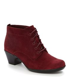 Look at this #zulilyfind! Red Ingalls Lace Q Suede Boot #zulilyfinds