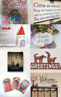 Welcome Home by Amy Spock on Etsy--Pinned with TreasuryPin.com