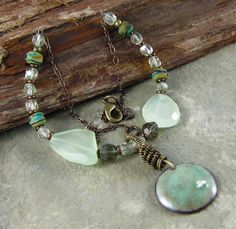 wire and stone necklace
