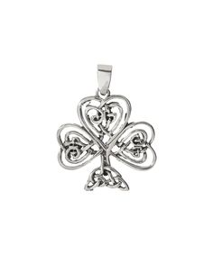Look at this #zulilyfind! Sterling Silver Celtic Knot Shamrock Pendant by Seodra Designs #zulilyfinds