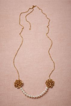 Twin Bouquets Necklace in Shoes & Accessories Jewelry Necklaces at BHLDN