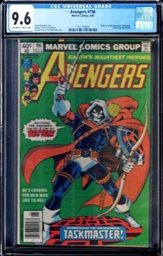 Key Avengers 196 CGC 8.5 White Pages 1st appearance of Taskmaster VF Marvel