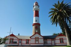 Swakopmund Lighthouse Namibia Lighthouses, The Places Youll Go, Travel Ideas, Africa, Around The Worlds, Tours, Holidays, Holidays Events, Holiday