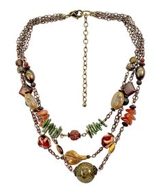 Look at this Earthtone Medley Multistrand Necklace on #zulily today!