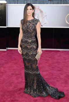 Sandra Bullock in Elie Saab.  Oscars 2013 Red Carpet Photos: See All The Dresses From The Academy Awards (PHOTOS)