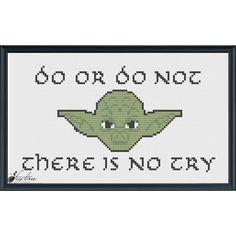 Star Wars Yoda Digital Cross Stitch Pattern by TheFigTreeStudio