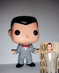 Pee-Wee Herman funko pop by ryancustompops on Etsy Custom Pop Vinyl, Pee Wee Herman, T Tv, Pop Collection, Pop Vinyl Figures, Bobble Head, Funko Pop, Handmade Gifts, Bed Room