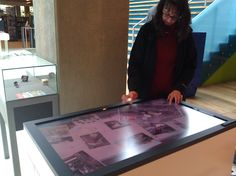 A multi-touch table that has archival photos that you can interact with! www.doklab.nl/en/project/multitouch-heritage-browser/