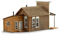 Bakery - back left view - wild west models - n scale House Plans 3 Bedroom, Tiny House Plans, Ho Scale Trains, Model Building, Old West, Ghost Towns, Little Houses, Model Trains, Scale Models