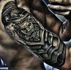 Silver Chainmail Mens Armor Tattoo Styles