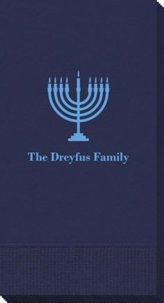 Personalized Lights of the Menorah Guest Towels