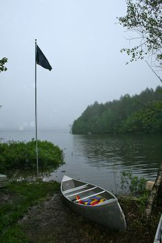 Canoe or kayak on the Neversink Reservoir in The Catskills. This was taken on opening day in Neversink, NY.