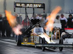 """""""The Sarge"""" Tony Schumacher coming off the tree in his Army Strong Top Fuel dragster"""
