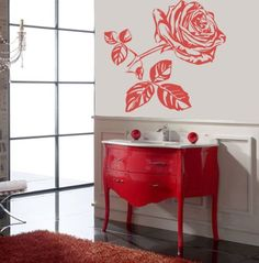 Housewares Vinyl Decal Rose Flower Home Wall Art Decor Removable Stylish  Sticker Mural Unique Design For