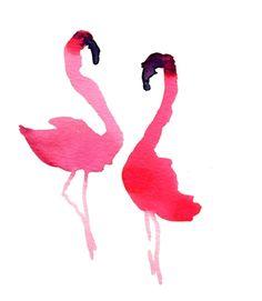 Pink flamingo silhouettes . . .