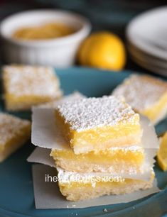 Craving something sweet? This easy homemade lemon bars recipe is sweet, tart, and refreshing. A perfect dessert! Check out the recipe card for more. Lemon Recipes, My Recipes, Favorite Recipes, Simple Recipes, Southern Recipes, Baking Recipes, Baking Ideas, Sweet Recipes, Recipes