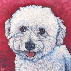 Pet Portraits by Bethany Gallery of Past Pet Paintings - Pet Portraits by Bethany Custom Dog Portraits, Pet Portraits, French Dogs, Cavachon, Lap Dogs, Bichon Frise, Acrylic Painting Canvas, Animal Paintings, Dog Art