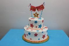 Stars and Banners Party 1st birthday cake