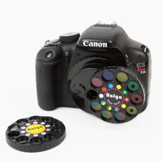 The DSLR Wheel of Filters. Eighteen different filters and prisms that you can change with the simple turn of a wheel!