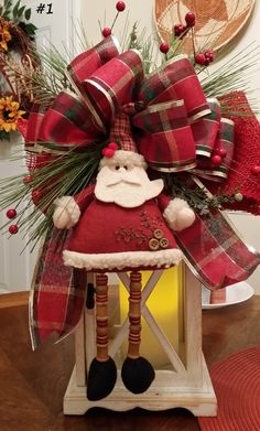 Christmas Lantern Swag Traditional Swag by TheChicyShackWreaths Christmas Items, Christmas 2015, Christmas Wreaths, Christmas Decorations, Holiday Decorating, Swag Ideas, Christmas Lanterns, Lanterns Decor, Burlap Bows