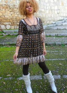 ETHNIC DRESS. Look estilo Étnico 2014.