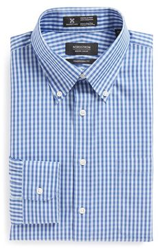Men's Big & Tall Nordstrom Smartcare Wrinkle Free Traditional Fit Gingham…