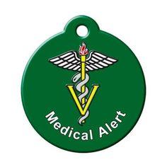 Medical Alert QR Code Pet ID Tag by BarkCode - Green