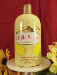 NIB Bath & Body Works HELLO SUGAR 3-in-1 Shampoo, Body Wash & Bubble Bath ~RARE~ #BathBodyWorks