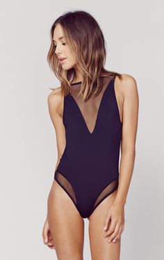 The Lara Mesh Bodysuit by Les Coquines features a super soft nylon fabrication with fishnet mesh details at neck and open back. Mesh Bodysuit, Bodysuit Lingerie, Sexy Outfits, Fashion Outfits, Womens Fashion, California Style Outfits, Underwear, Minimal Outfit, Sexy Girl