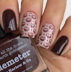 piCture pOlish 'Demeter + Beige' hoot hoot nails by Anna SO COOL thank you :) www.picturepolish.com.au