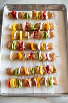 Easy Marinated Chicken Kebabs - Tastes Better from Scratch Chicken Kabobs, Chicken Kabob Recipes, Teriyaki Chicken, Marinated Chicken, Cooking On The Grill, Main Dishes, Cooking Recipes, Ethnic Recipes, Kebabs