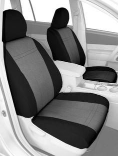 CalTrend Front Row Bucket Custom Fit Seat Cover for Select Ford Ranger Models - MicroSuede (Light Grey Insert with Black Trim) Custom Fit Seat Covers, Jeep Seat Covers, Golf Cart Seat Covers, Car Interior Design, Van Interior, Jeep Grand Cherokee Models, Jeep Cherokee, Ford Ranger Models, Jeep Wrangler Models