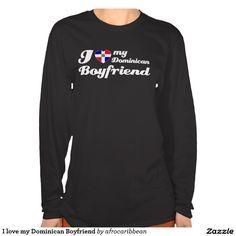 I Love Heart Dominican Republic Ladies T-Shirt