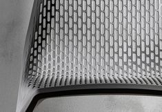 Perforated metal chair