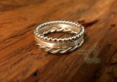 Stapel-Ring Set Silber Handarbeit 4