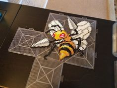 Beedrill Pokemon perler beads by mad-bunny