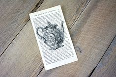 DIY Book Page Wall Art - Printing on Book Pages