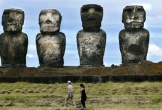 Easter Island.. we still can't explain how these giant statues got here. According to the inhabitants of the island... they walked there 0_O