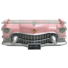 Pink Cadillac Car Shelf with LED Lights